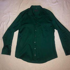 Emerald green Geoffrey Beene xl button down